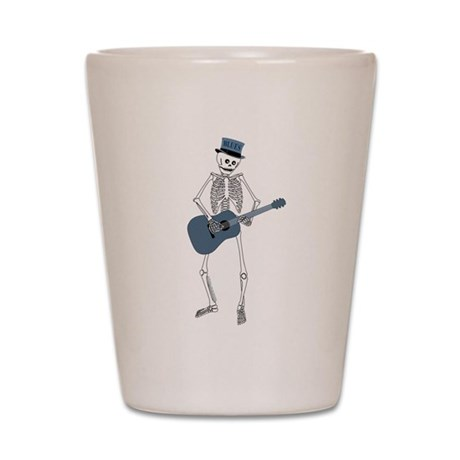 Bluesman Skeleton Shot Glass