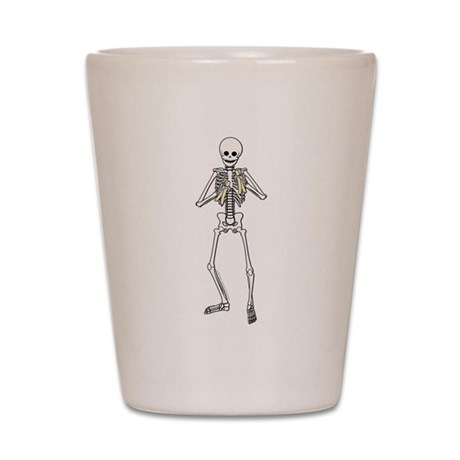 Skeleton Bone Player Shot Glass