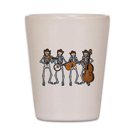 Cowboy Music Skeletons Shot Glass