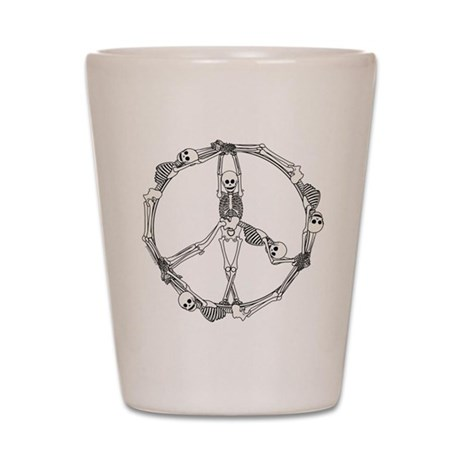 Peace Skeletons Shot Glass