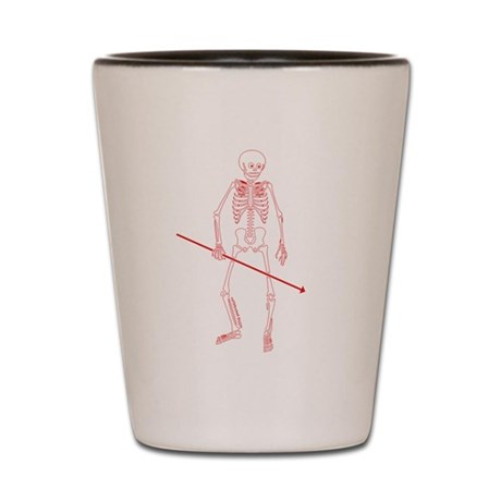 Hunting Skeleton Shot Glass