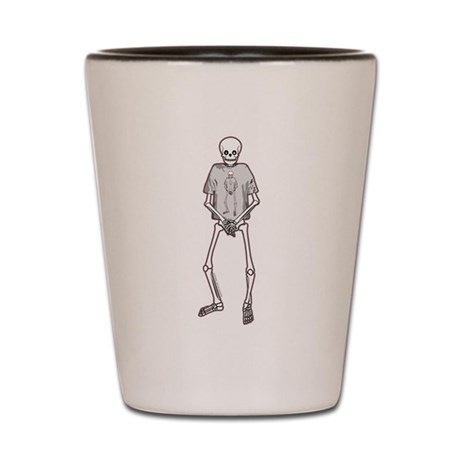 T-Shirt Skeleton Shot Glass