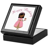 Happy Birthday Ethnic Princess Keepsake Box