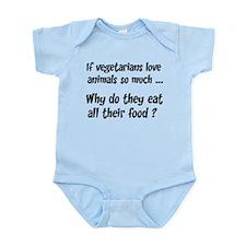 Vegetarians Sarcasm Infant Bodysuit