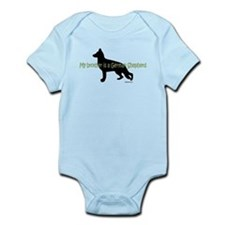 My Brother is a German Shepherd Infant Bodysuit