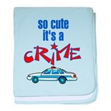 So cute it's a crime Baby Blankets