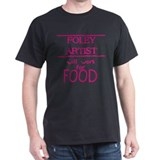 Foley Artist Will Work for Food Black T-Shirt