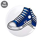 "Blue Basketball Sneakers 3.5"" Button (10 Pk)"