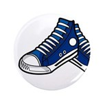 """Blue Basketball Sneakers 3.5"""" Button"""