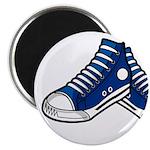 "Blue Basketball Sneakers 2.25"" Magnet (10 Pk)"