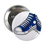 "Blue Basketball Sneakers 2.25"" Button (100 Pk"
