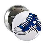 "Blue Basketball Sneaker 2.25"" Button"
