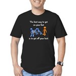 The Best Way Men's Fitted T-Shirt (dark)