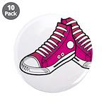 "Pink Basketball Sneakers 3.5"" Button (10 Pk)"