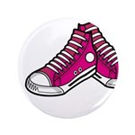 """Pink Basketball Sneakers 3.5"""" Button"""