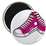 "Pink Basketball Sneakers 2.25"" Magnet (10 Pk)"