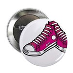 "Pink Basketball Sneakers 2.25"" Button (100 Pk"