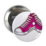 "Pink Basketball Sneakers 2.25"" Button (10 Pk)"
