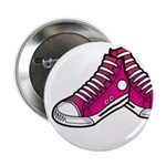 """Pink Basketball Sneakers 2.25"""" Button"""