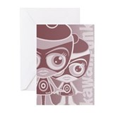 Outlaw Mascot HT Greeting Cards (10 Pack)