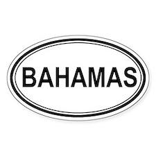 Bahamas Euro Oval Decal