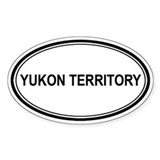 Yukon Territory Euro Oval Decal