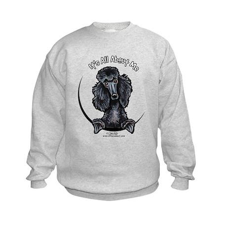 Black Standard Poodle IAAM Kids Sweatshirt
