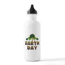 Earth Day Trees Water Bottle
