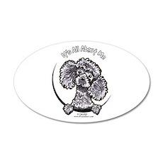 Gray Poodle IAAM 22x14 Oval Wall Peel