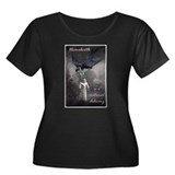Homebirth Women Plus Size Scoop Neck Dark T-Shirt