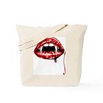Vampire Fangs Tote Bag