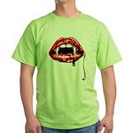 Vampire Fangs Green T-Shirt