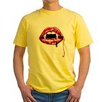 Vampire Fangs Yellow T-Shirt