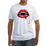 Vampire Fangs Fitted T-Shirt