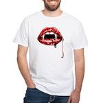 Vampire Fangs White T-Shirt