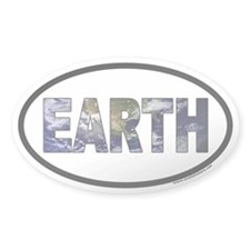 Earth Day EARTH Oval Decal