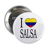 "Colombian ""I Love Salsa"" Button"