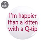 "Happy Kittens 3.5"" Button (10 pack)"