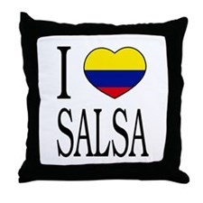 "Colombian ""I Love Salsa"" Throw Pillow"