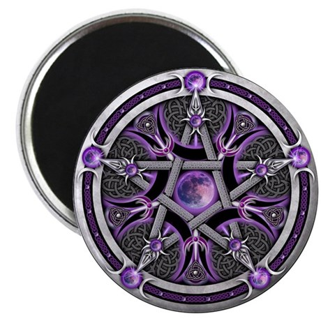 Pentacle of the Purple Moon Magnet