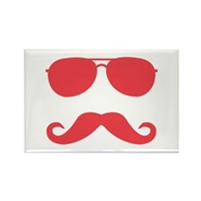 glasses and mustache Rectangle Magnet