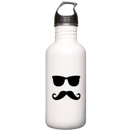 glasses and mustache Stainless Water Bottle 1.0L