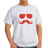 glasses and mustache T-Shirt