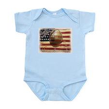 MADE IN AMERICA BASEBALL Infant Bodysuit