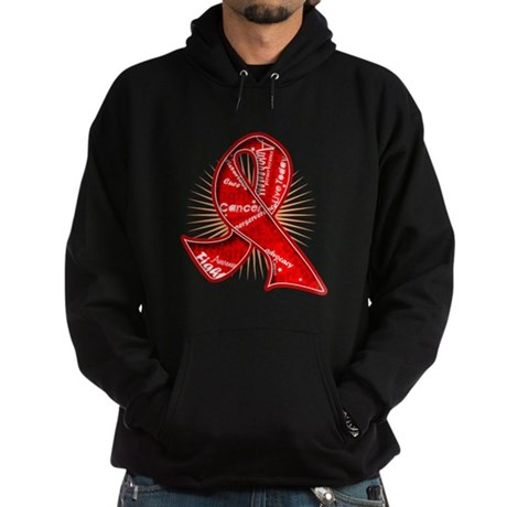Blood Cancer Slogans Hoodie (dark)