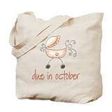 October Due Date Pink Buggy Tote Bag