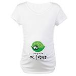October Maternity Turtle Maternity T-Shirt