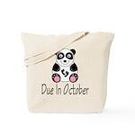 October Due Date Panda Tote Bag
