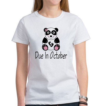 October Due Date Panda Women's T-Shirt