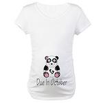October Due Date Panda Maternity T-Shirt